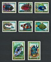Stamps Fish Marine Life Anemone Exotic Fish Sea Corals Ocean Underwater MNH Set