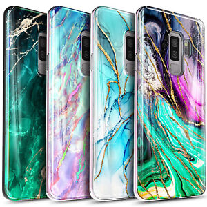 For Samsung Galaxy S9 / S9 Plus Phone Case Slim Marble Cover + Screen Protector