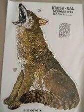 Brush-Cal Decorative Sticker- E-27 Coyote