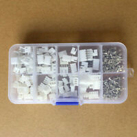 250X JST-XH Kit 2p 3p 4p 5 Pin 2.54mm Terminals Housing Headers Wire Connectors