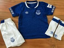 Boys UMBRO EVERTON FC HOME KIT Shirt (age4-5) *L@@K*