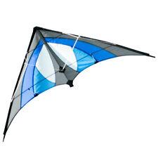 CIM Lenkdrachen Blue Sky Einsteiger Drachen 120cmx60cm inkl. Steuerleinen