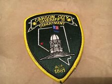 CAPITAL CITY CARSON CITY COUNTY SHERIFF NEVADA POLICE patch NB