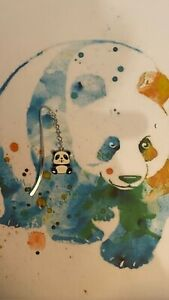 Panda Bookmark Silver plated With an Enamel Charm.
