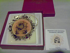"""1986  THE HUMMEL GOLD  CHRISTMAS ORNAMENT COLLECTION  """"Coquetts"""""""