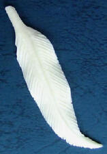 Delicately Hand Carved Bone Feather Pendant - Native American Crafts