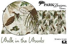 Walk in the Woods Valance by Park Designs, 72x14, Lovely Woodsy Nature Print, 1