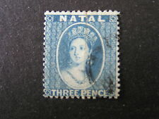 NATAL, SCOTT # 11, 3p. VALUE BLUE QV CLEAN CUT PERF 1861 ISSUE USED