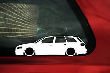 2x LOW Audi A4 Avant / RS4 (B7) estate wagon ,car outline stickers, Decals