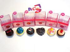 6 Favor of Cup Cake Lip Gloss & Balm - Makeup Cupcake Lipgloss