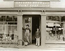 Vintage Paint Store Antique Bicycle  Old Time Paint Store Wallpaper Display 1890