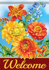 Garden Flag, Colors of Autumn, Welcome, Flowers, Floral, Double Sided, 2 Sided