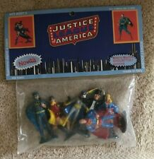 """DC JUSTICE LEAGUE Of AMERICA 2 1/2"""" FIGURE ASST. 9 MIP Italy ONLY 1979 RARE"""