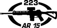 223 AR 15 gun Rifle Ammunition Bullet exterior oval decal sticker car wall