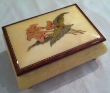"""Reuge Music Jewelry Box """"Lillies"""" With 18 NT MVT-""""Speak Softly Love"""""""