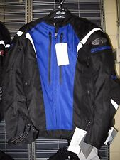 JOE ROCKET ATOMIC 5.0 BLACK AND BLUE MOTORCYCLE JACKET SIZE LARGE 1651-5204