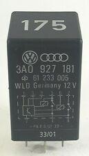 Audi VW Seat Black-175 9-Pin Relay  3A0927181 61233005 WLO Germany