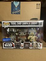Funko Pop! Teebo Chief Chirpa Logray 3 Pack Star Wars Ewoks *Protector *NEW 3