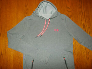 UNDER ARMOUR LONG SLEEVE GRAY HIGH NECK TOP WOMENS MEDIUM EXCELLENT CONDITION