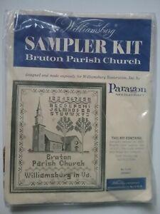 Americana Williamsburg Cross Stitch Paragon Needlecraft Bruton Parish Church VTG