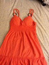 L.e.i. Summer Dress Juniors Size Medium Peach Orange Sleeveless
