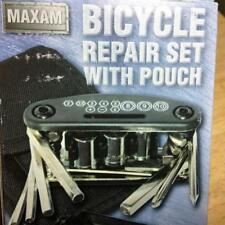 Maxam Bicycle Repair Tool Set with Nylon Pouch w/Belt Loop Multi Tools MTBYTL