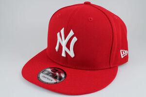 NEW ERA 9FIFTY BASIC SNAPBACK HAT CAP MLB NEW YORK NY YANKEES RED ADULT MEN