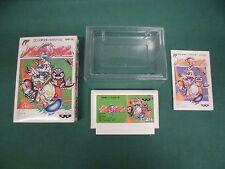 BATTLE BASEBALL -- Can backup. Boxed. Famicom, NES. Japan game. 12075