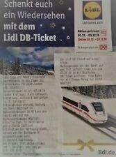 !!30min-4h Sofort Lidl Bahnticket 10€-eCoupon bis 31.8.19 DB Deutsche Bahn ICE