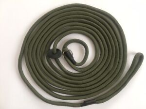 HANDMADE 6 METRE EX LONG TRAINING SLIP DOG 6 MM LEAD for recall and steadying.