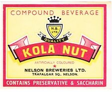 1940s Australia Nelson Breweries Kola Nut Compound Beverage label
