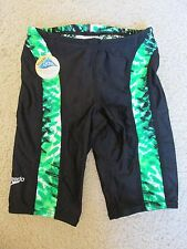"New Speedo Baby Swimming Swim ""Racing Shorts"" Black & Kelly Green 24 Months 24M"
