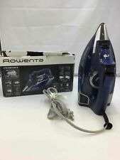 Rowenta Dw9280 Digital Display Steam Iron, 1800-Watt, 400-Hole, Blue- Powers On