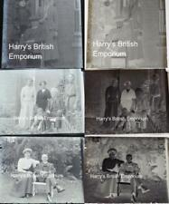 More details for family groups antique set of 3 glass photograph negatives c1910