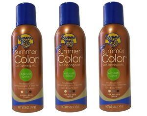 Banana Boat Summer Color Self Tanning Mist All Skin Tones 3 Pack 5 oz. each.