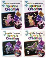 Childrens Sequin Sparkle Creation Pin Art & Craft Set Pony Cat Butterfly Dolphin
