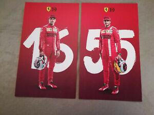 Cartoline/Postcards Leclerc e Sainz 2021 - Ferrari - F1