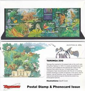 TELSTRA TELEARCH TARONGA NSW ZOO STAMP AND PHONECARD LTD EDITION  IN PACK