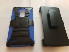 Case Cover with Belt Clip and Stand For LG G Stylo LS770 Black Blue C24