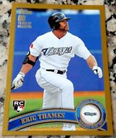 ERIC THAMES 2011 Topps Update GOLD SP 362/2011 Rookie Card RC Logo HOT Brewers