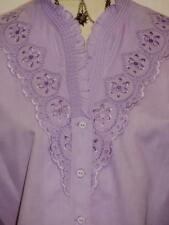 "PURPLE LACE BLOUSE German COTTON Women Dirndl Dress Suit Western/B41""/14 L"
