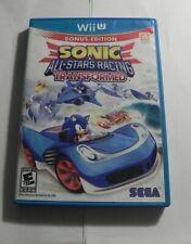 Sonic & All-Stars Racing Transformed (Nintendo Wii U, 2012)  COMPLETE FAST SHIPP