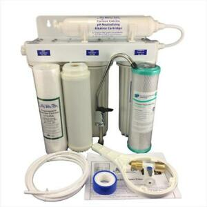 Triple Under Sink 0.1 Micron Ultra Fine Water Filter with pH Elevation