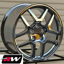 17/ 18 inch Corvette Replica Wheels C5 Z06 Chrome Rims 17x9.5 18x10.5 C4 1988-96