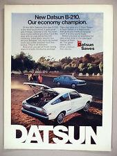Datsun B-210 PRINT AD - 1974