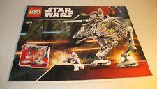LEGO Set 7671 Star Wars Episode 3 AT-AP Walker Instruction Manual Book Only