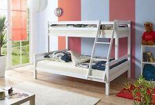 Letto a castello per adulti in legno faggio bianco adatto anche per alberghi