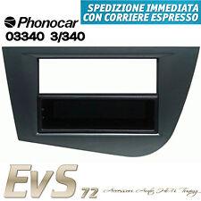 Phonocar 3/340 Mascherina Autoradio ISO Doppio Iso/DIN Grigio Seat Leon 05>'12