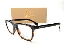 Burberry BE2292 3002 Dark Havana Demo Lens Men's Rectangle Eyeglasses Frame 53mm