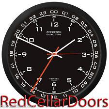 "TRINTEC ZULU CLOCK 12 & 24 HOUR DUAL TIME UTC MILITARY DSP1 SWL RADIO SHACK 10"""